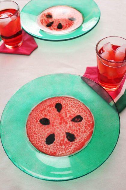 Watermelon week plates