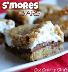 S'mores Bars recipes from Six Sisters' Stuff. Part of the S'mores Saturdays Series on Craft Quickies.
