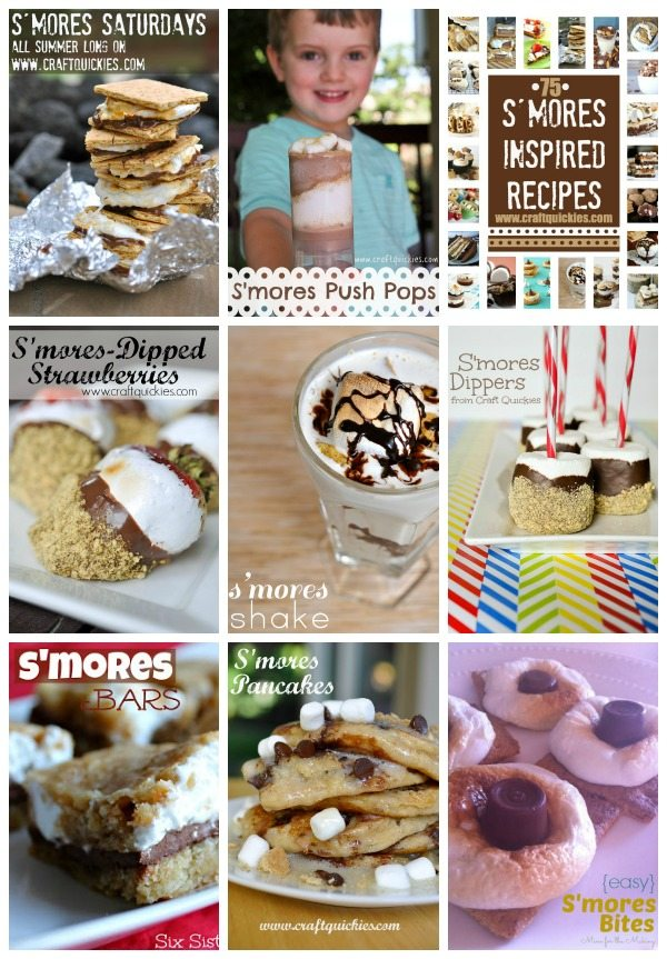 S'mores Saturdays Collage for National S'mores Day