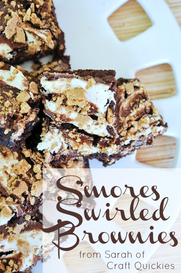 S'mores Swirled Brownies from Sarah of Craft Quickies. Elegant and grown-up looking, but kid-friendly in taste! YUM!