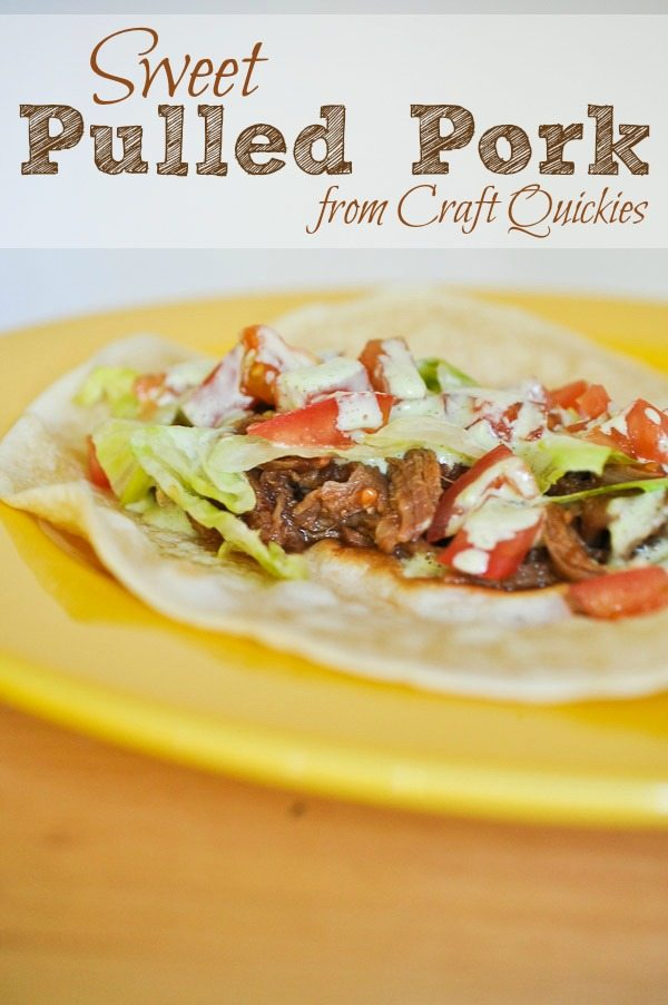 Sweet Pulled Pork Recipe from Craft Quickies