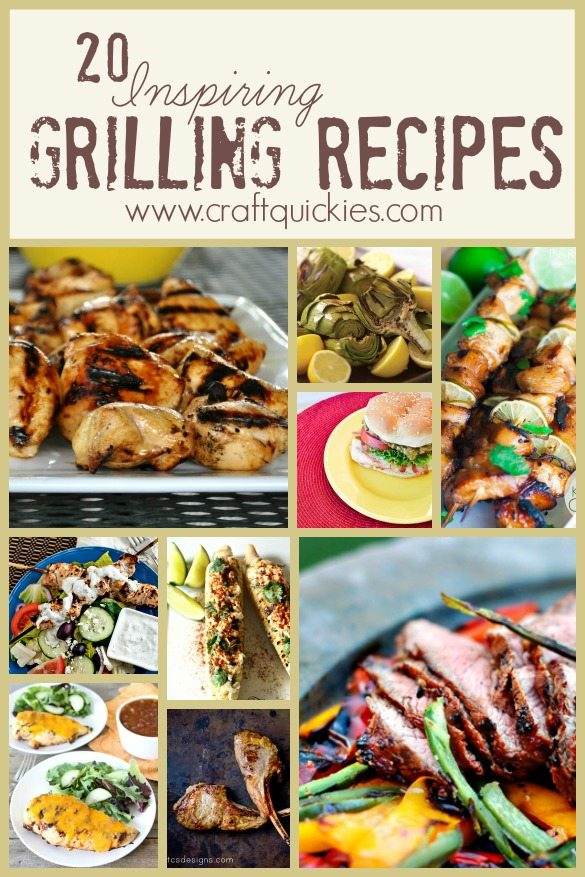 grilling recipes long pin collage