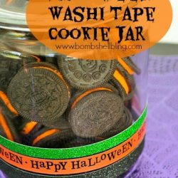 Halloween Washi Tape Cookie Jar