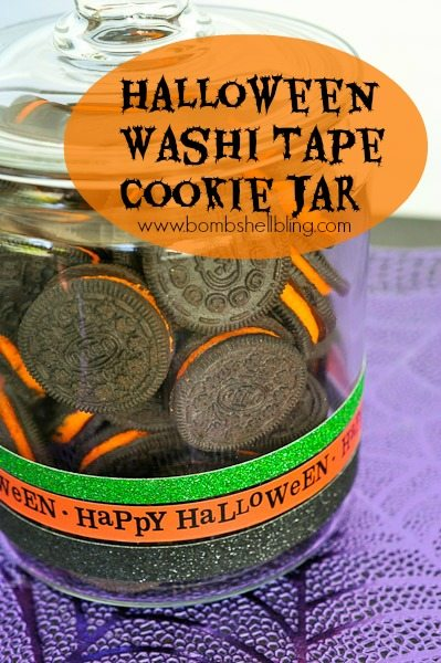 Halloween Washi Tape Cookie Jar from Bombshell Bling