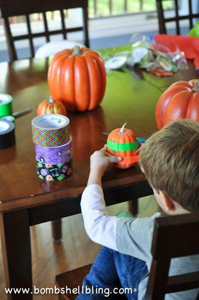 Duck Tape Pumpkins-3
