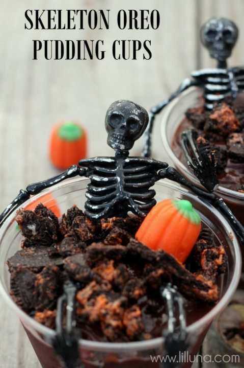 *Skeleton pudding cups