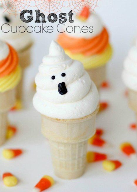 *ghost cupcake cones