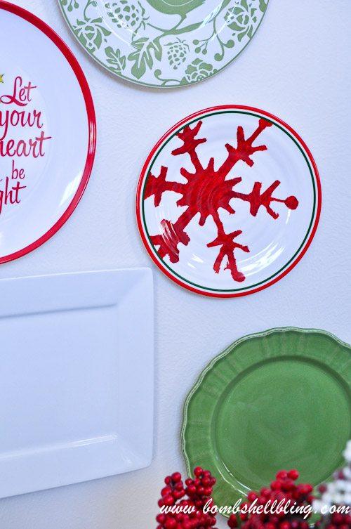Christmas Plate Wall-14