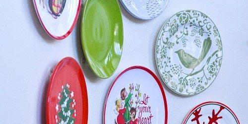 Christmas Plate Wall