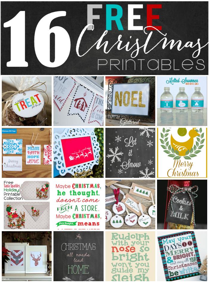 16 FREE Christmas Printables!