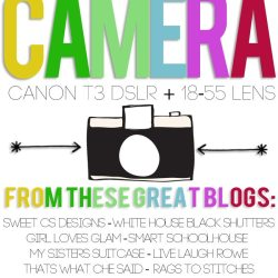 Canon T3 DLSR Camera Giveaway