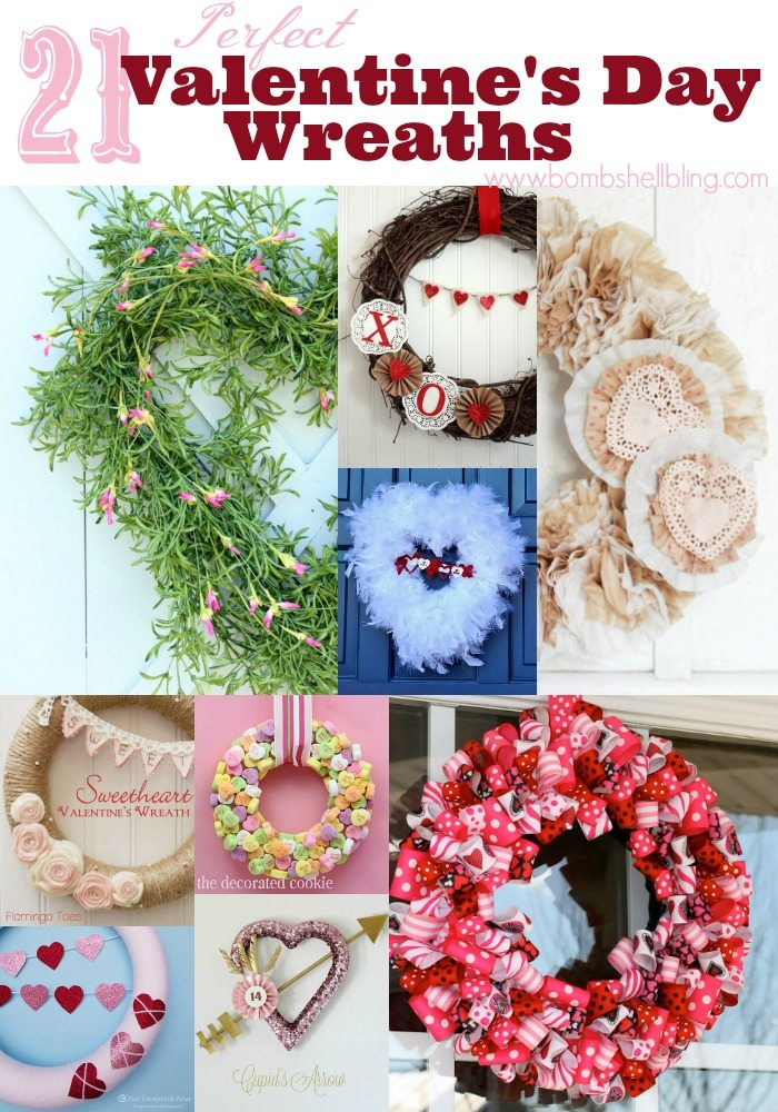 This roundup of 21 perfect Valentine's Day wreath tutorial is sure to leave you feeling romantic and inspired! From silly to elegant, there is something for everyone!