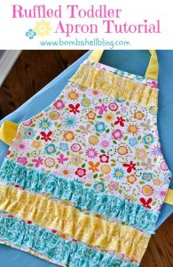 Ruffled Toddler Apron Tutorial from Bombshell Bling