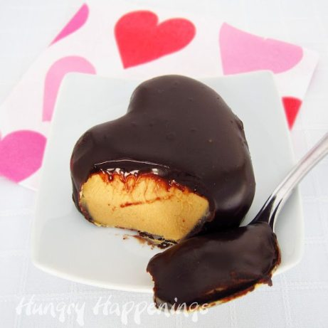 +Rich and creamy peanut butter filling, hearts, buckeyes, candy, chocolate, Valentine's Day dessert