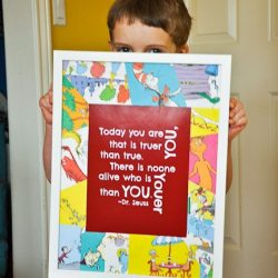 Dr. Seuss Room: Free Printable & Book Page Collage Frame