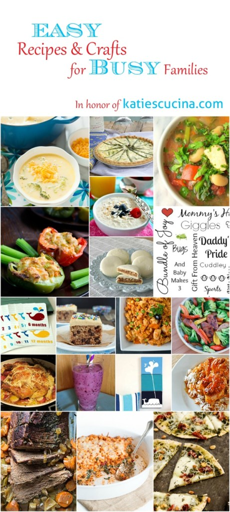 A collection of simple meals and crafts for new moms!
