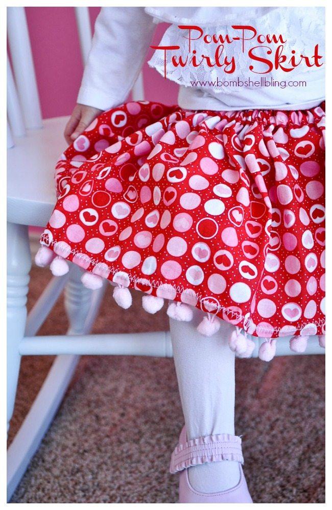Pom Pom Twirly Skirt from Bombshell Bling