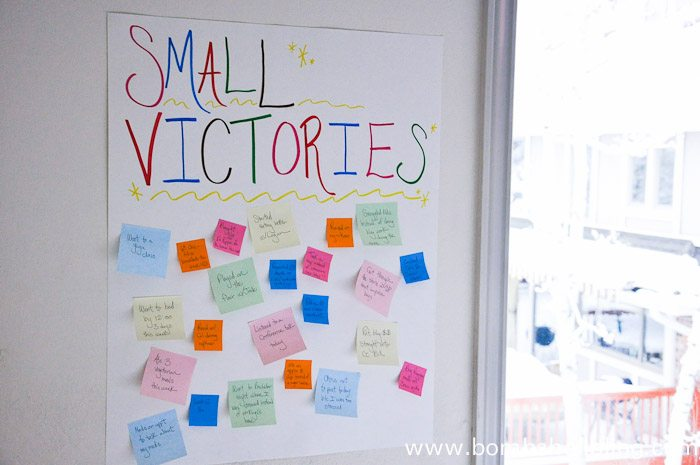 A post about celebrating the small victories in life and not getting caught up in lofty goals and expectations.