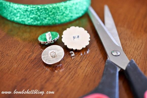 St Patrick's Day Rhinestone Headband-2