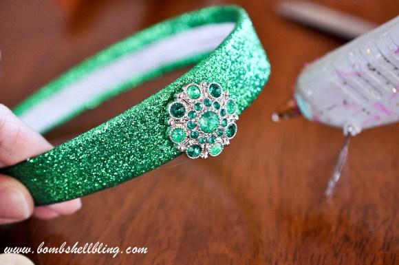 St Patrick's Day Rhinestone Headband-4