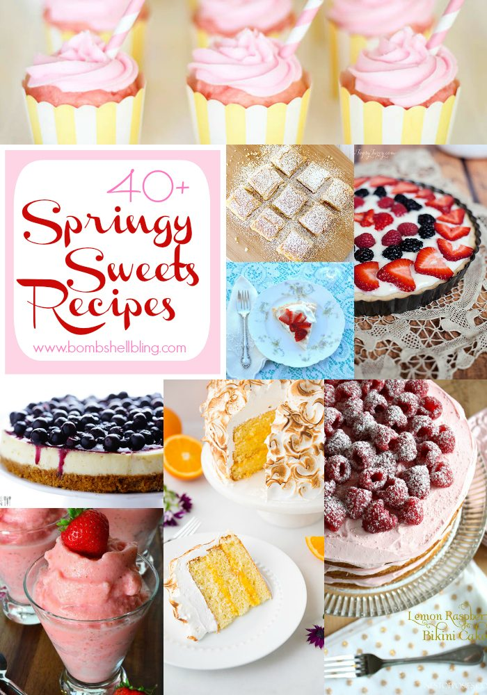 spring recipes collage