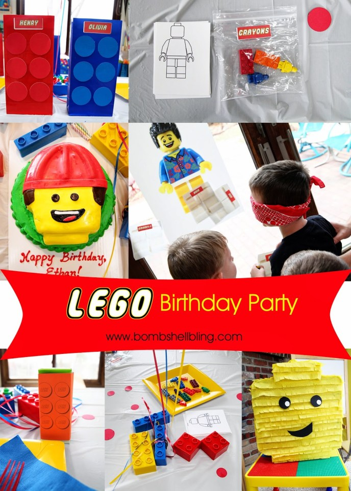 Lego Birthday Party -- SOO cute! I love all of the ideas for decorations, activities, and even food!