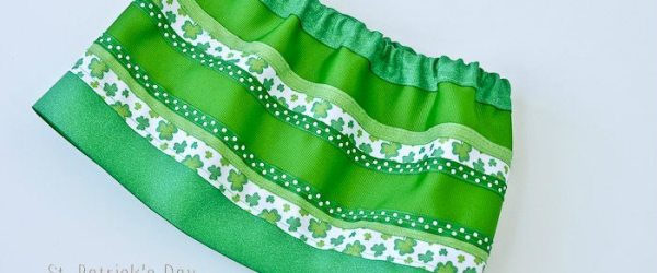 St. Patrick's Day Ribbon Skirt Tutorial
