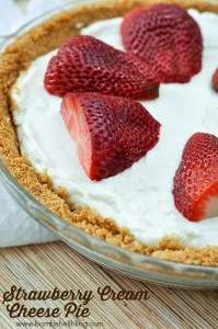 Strawberry Cream Cheese Pie from Bombshell Bling