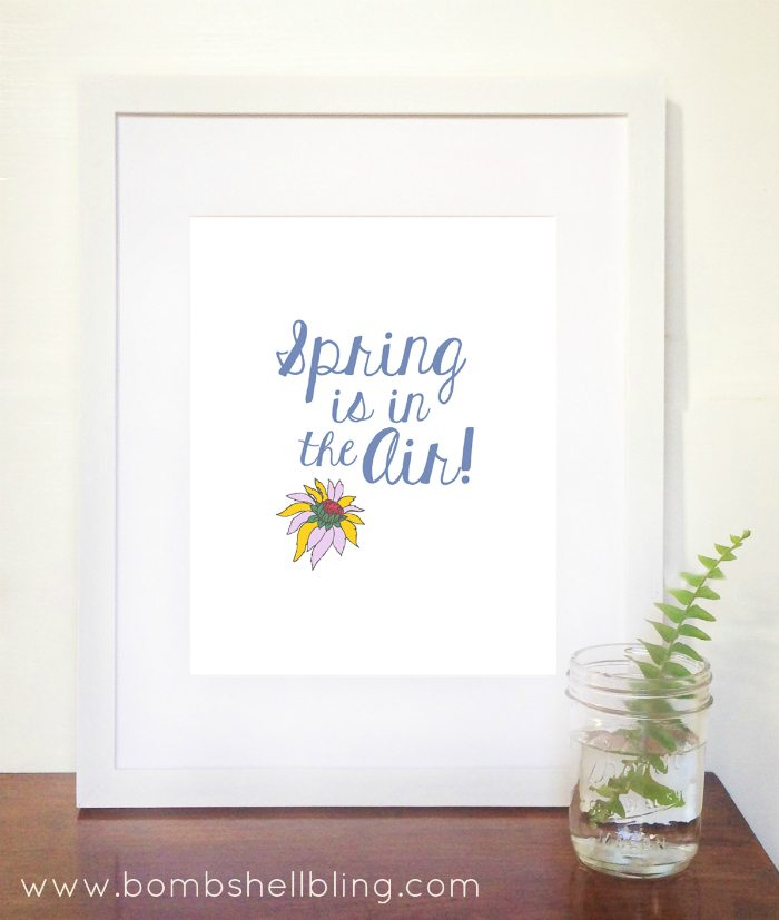 Spring is in the Air Free Spring Printable