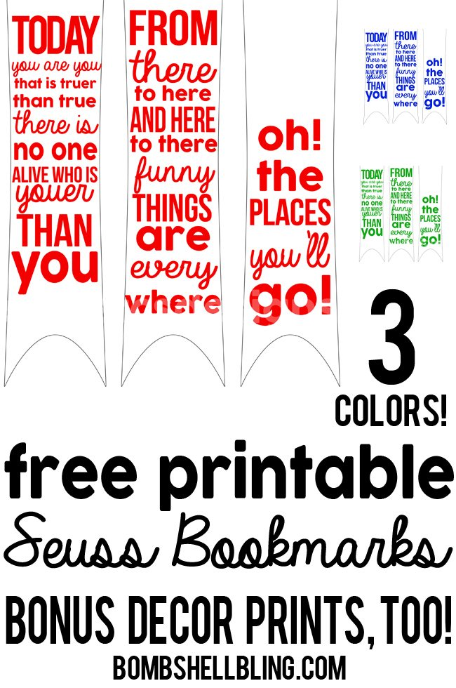 photograph relating to Dr Seuss Printable Bookmarks called Dr Seuss Bookmarks: No cost printables ideal for higher education or household!