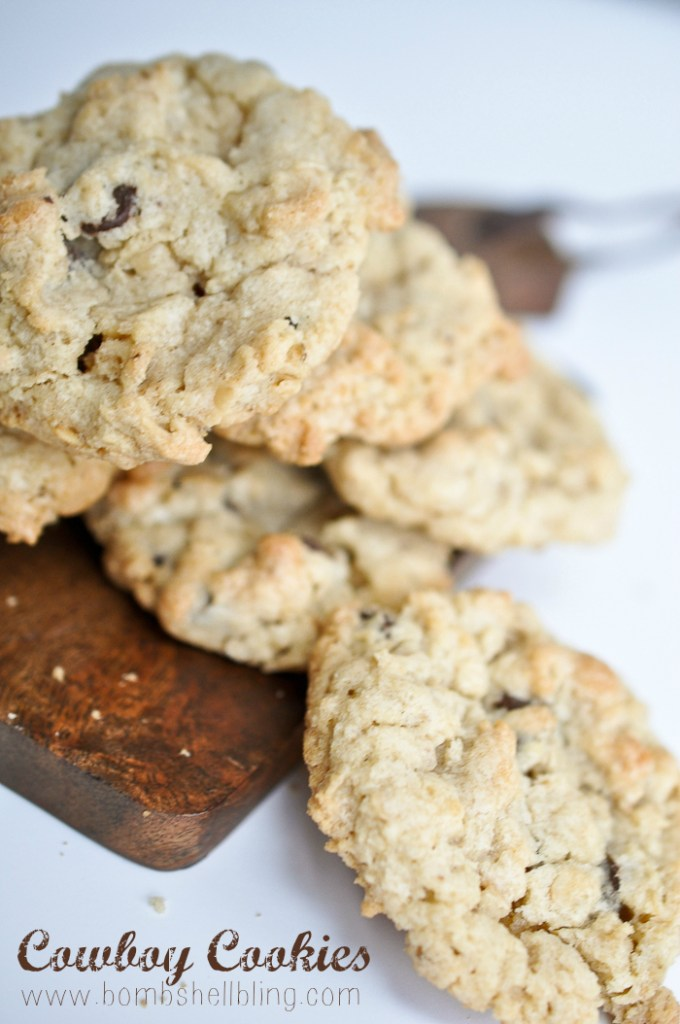 This old family recipe for Cowboy Cookies is SUCH a taste treat --- and the best raw cookie dough ever, by the way!