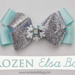 No Sew Hair Bow Tutorial | Disney Themed Elsa Hair Bow