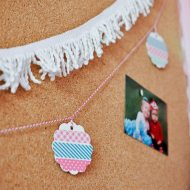 Washi Tape Flower Garland