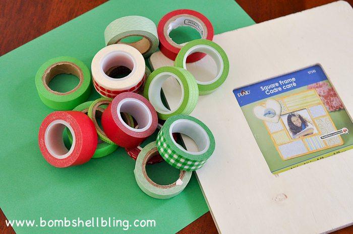 Washi Tape Apple Art
