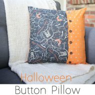 Halloween Button Pillows