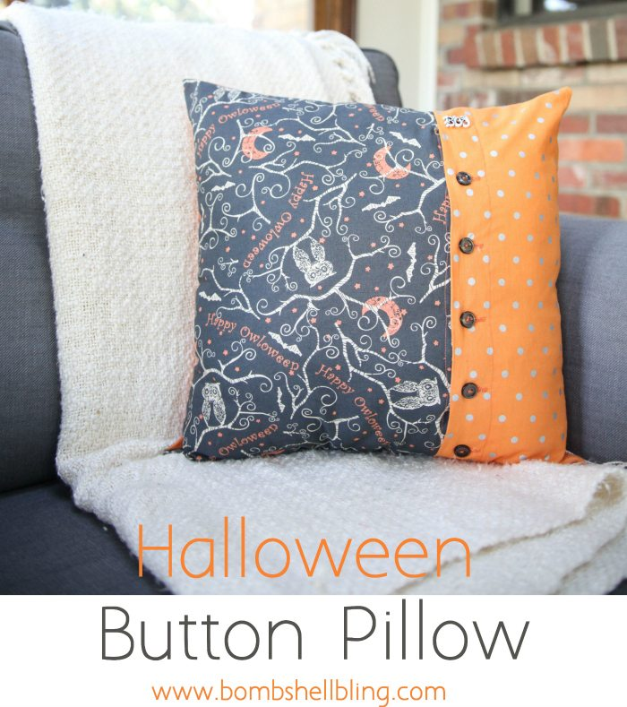 Halloween Button Pillow Tutorial