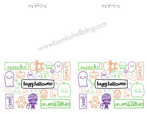 Halloween Printable Cards Proof