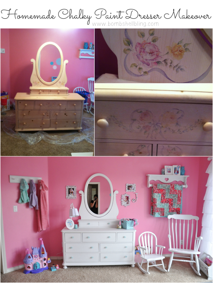 It's amazing what a coat of paint can do! Love this dresser makeover!