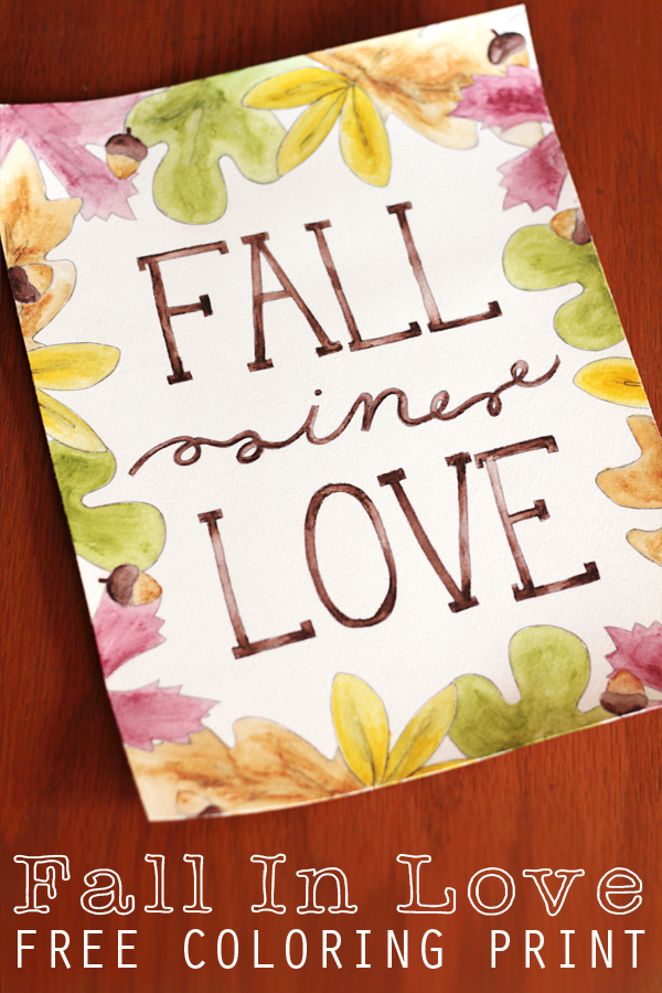 Free Fall Printables fall in love printable