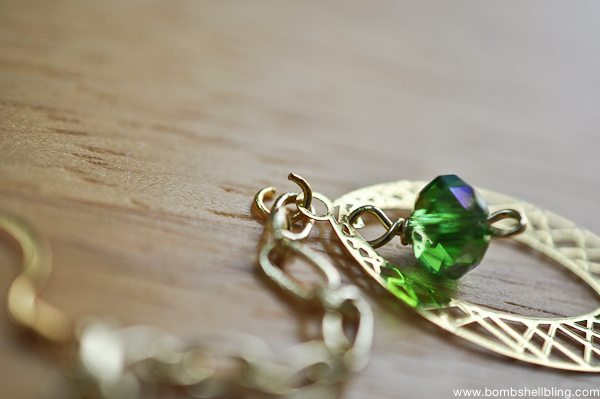 Gold & Green Earrings Tutorial CC-11