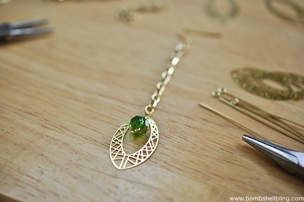 Gold & Green Earrings Tutorial CC-12
