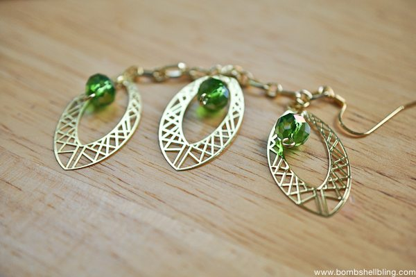Gold & Green Earrings Tutorial CC-13