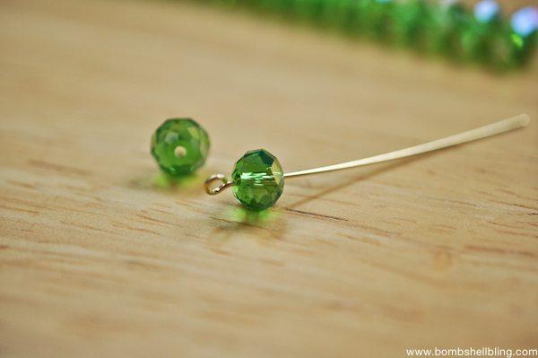 Gold & Green Earrings Tutorial CC-4