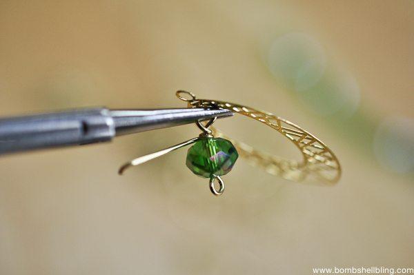 Gold & Green Earrings Tutorial CC-9