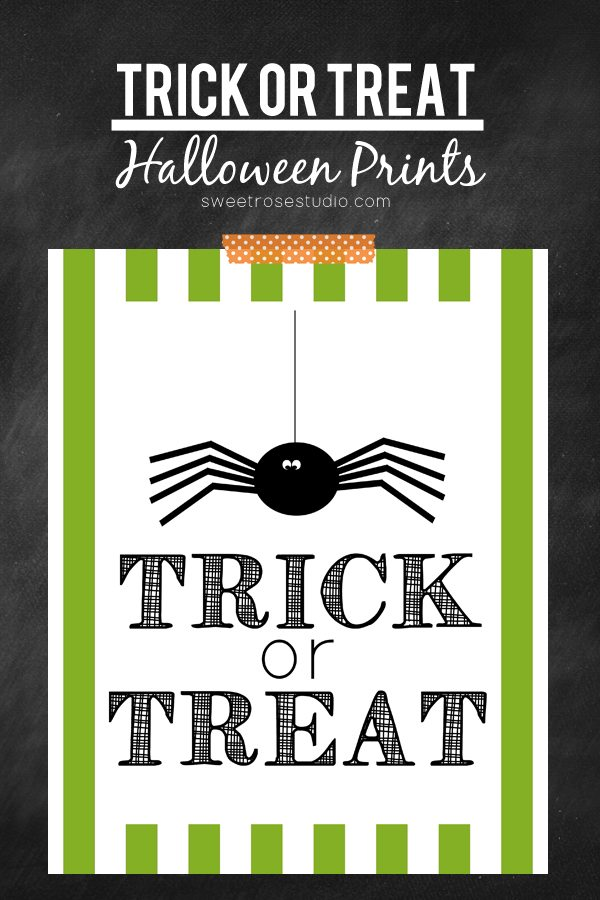 Halloween printables Trick-or-Treat