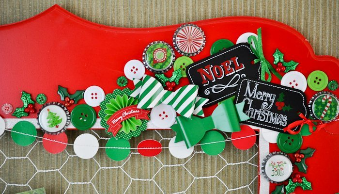 Chicken Wire Christmas Card Display