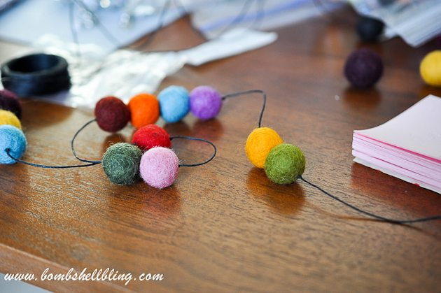 Felt Ball Statement Necklace-13