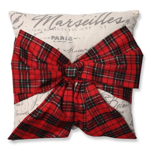 Pillow-Perfect-Holiday-Plaid-Bowknot-Throw-Pillow