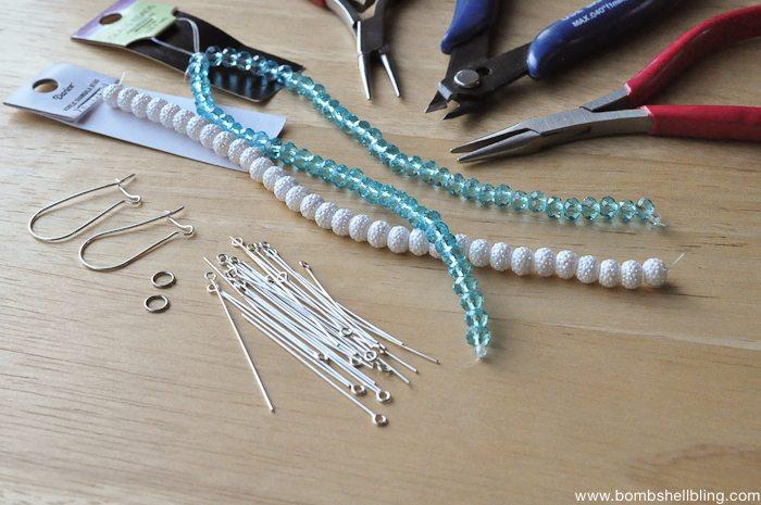 Frozen Inspired Dangle Cluster Earrings-1
