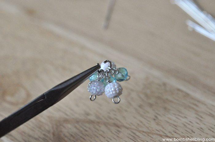 Frozen Inspired Dangle Cluster Earrings-7